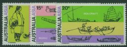 AUS SG483-5 28th International Congress of Orientalists, Canberra set of 3